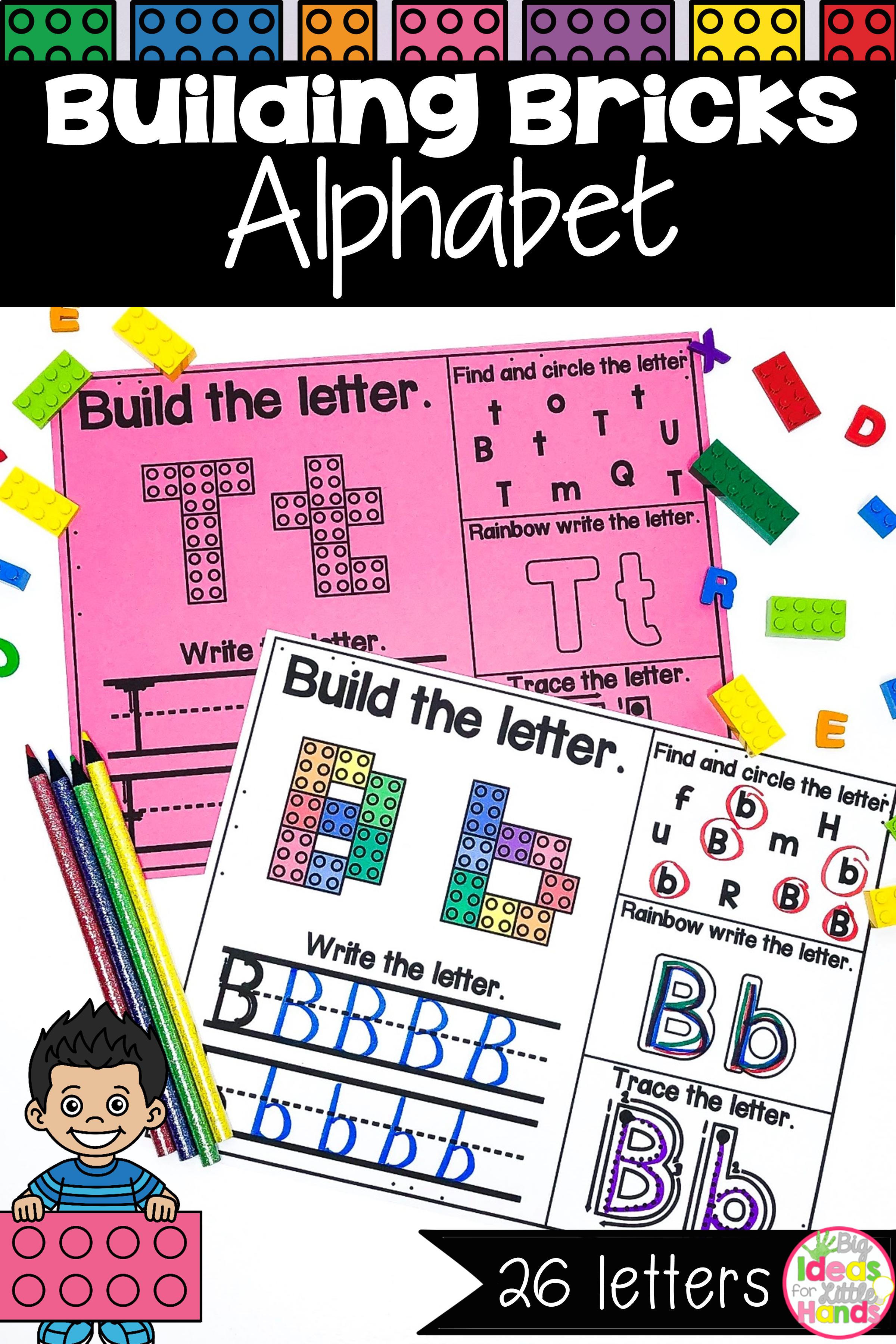 Building Bricks Alphabet Letters Mat