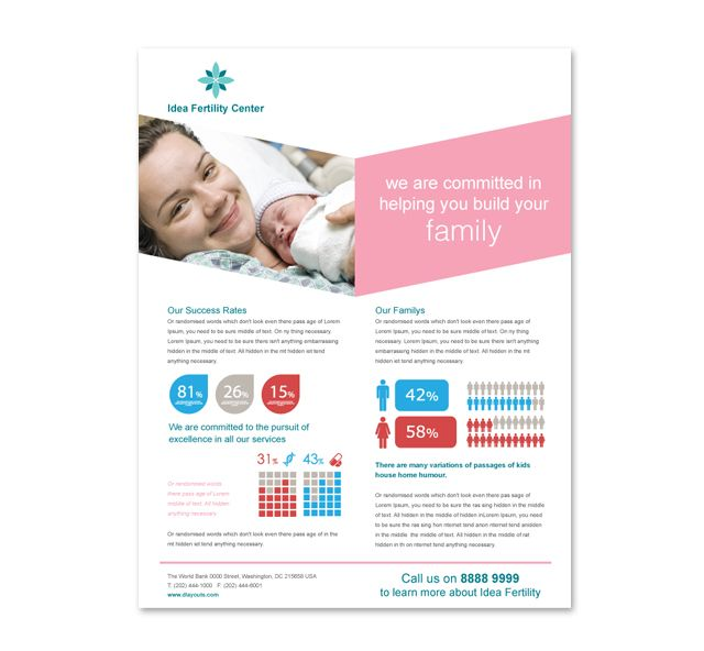Fertility Hospital Flyer Template HttpWwwDlayoutsComTemplate
