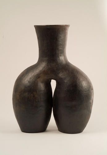 Contemporary Vase By Baule Potter Kaka Adjoua From Central Ivory