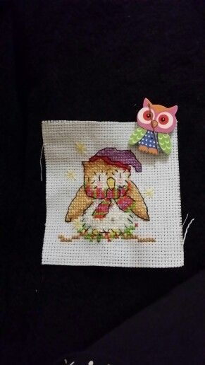 My xmas card. Going to add a tiny bell to the hat instead of  x stitch.