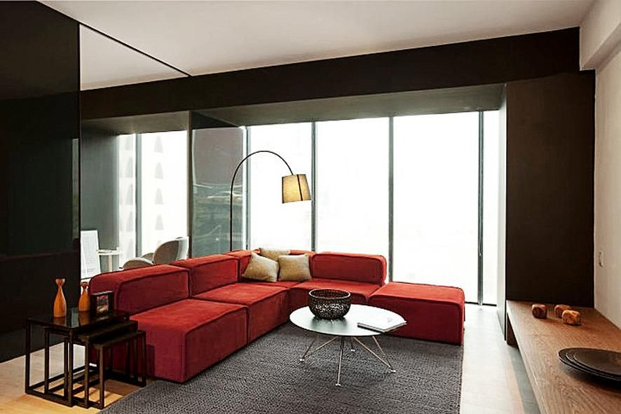 Boconcept Sf Boconcept Red Sofa Room