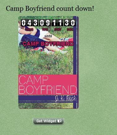 We love that Lola put up out CAMP BOYFRIEND countdown widget on her wonderful YA lit blog lolabookreviews.blogspot.com/