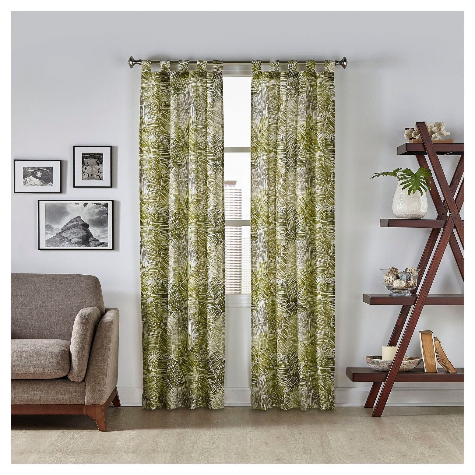 2 Pack Marley Tropical Curtain Panel Pairs To Go Tropical