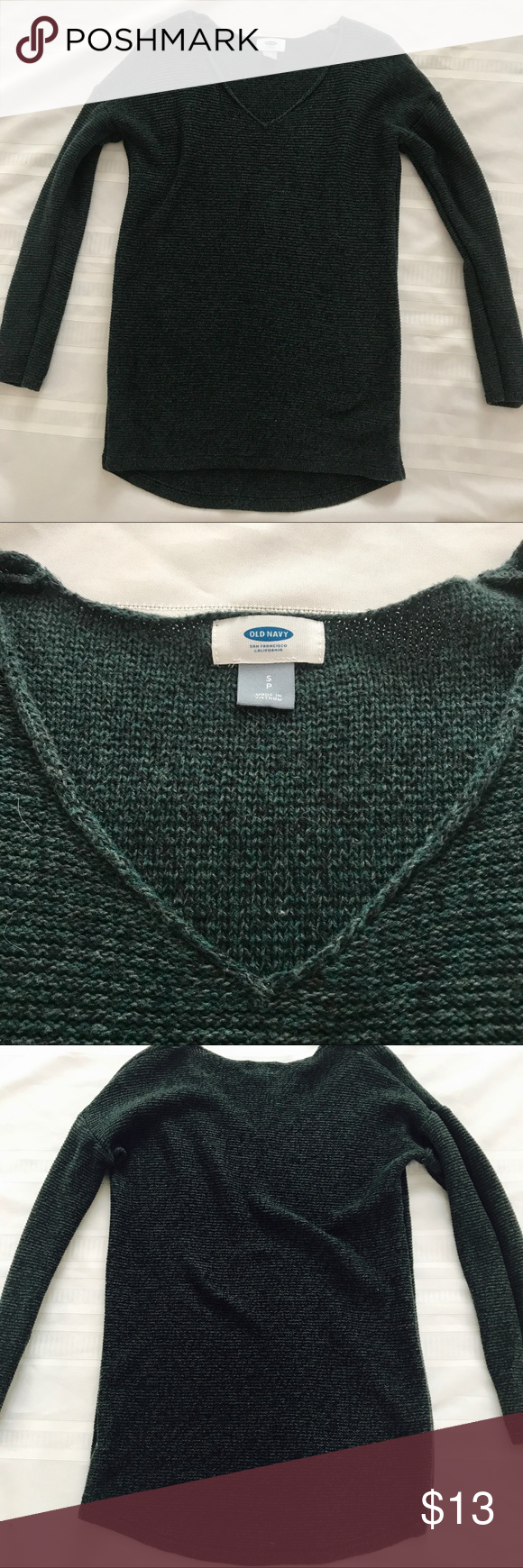 Old Navy Marled V-neck Tunic Sweater | Tunic sweater, Hunter green ...