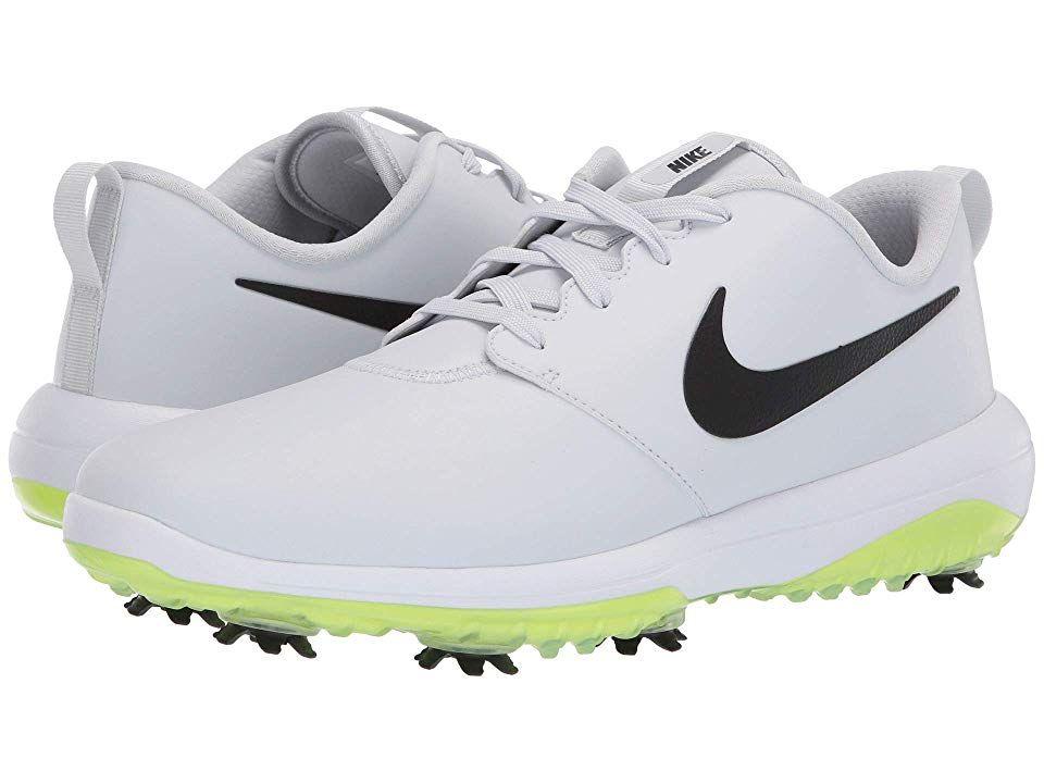 Nike Golf Roshe G Tour Men S Golf Shoes Pure Platinum Black White Volt Glow Golf Shoes Mens Nike Golf Nike