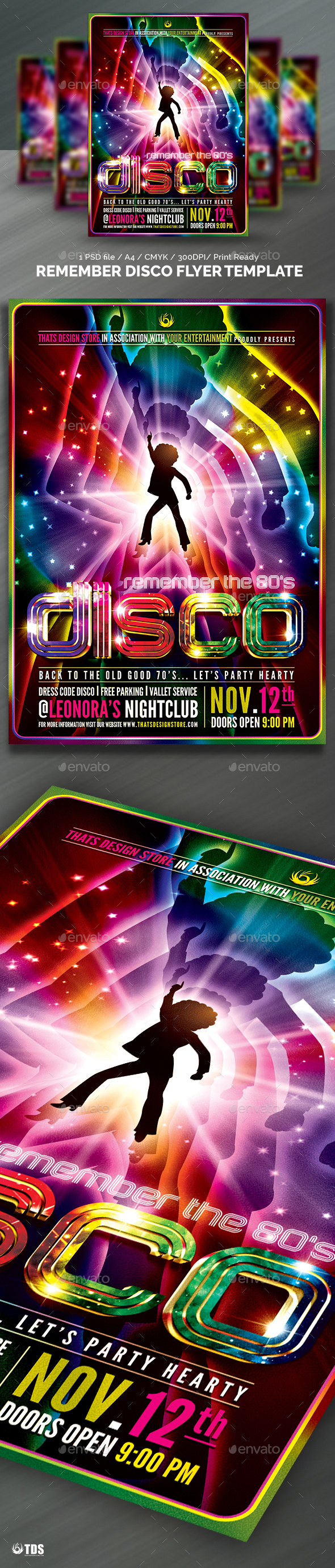 Remember Disco Flyer Template | Flyer template