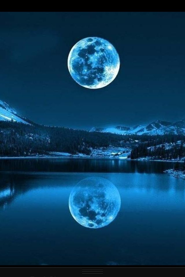 Night Time With Images Beautiful Moon Moon Over Water
