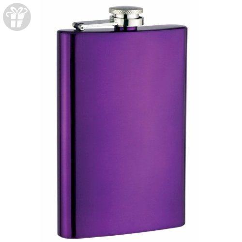 8oz Stainless Steel Hip Flask, Purple (*Amazon Partner-Link)