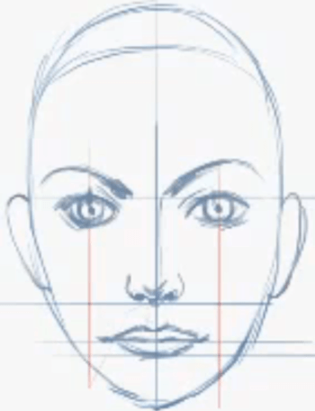 How To Draw Female Faces In Correct Proportions With Easy Drawing Lesson How To Draw Step By Step Drawing Tutorials Girl Face Drawing Face Proportions Drawing Nose Drawing