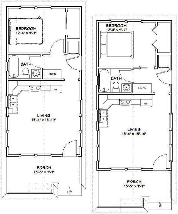 16x32 Tiny Houses 511 sqft PDF Floor by