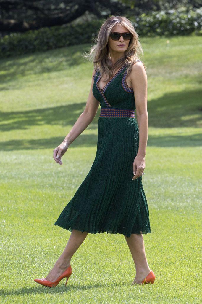 Melania Trump's Camp David Dress Is Reversible — And Comes