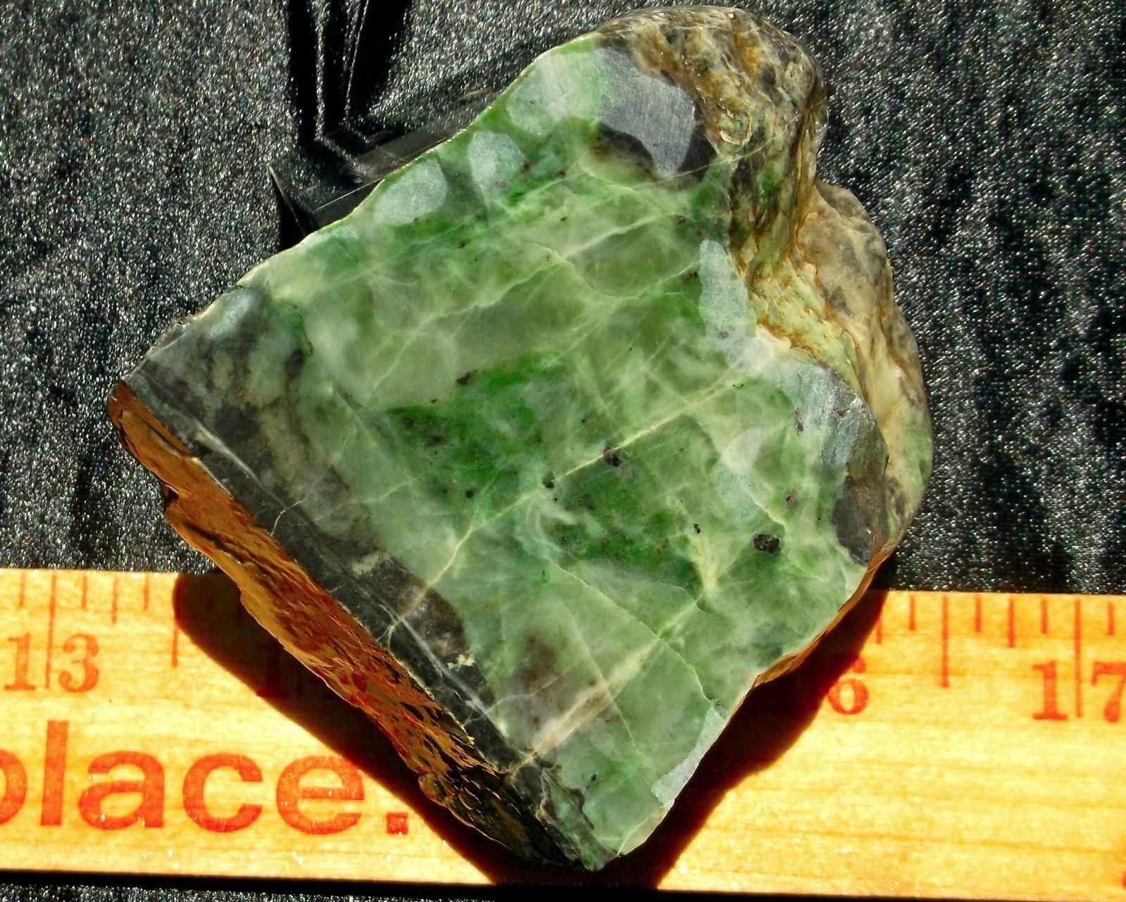 Jade Fine Green (Eel River) Rough Open Face 180 Grams 6.3