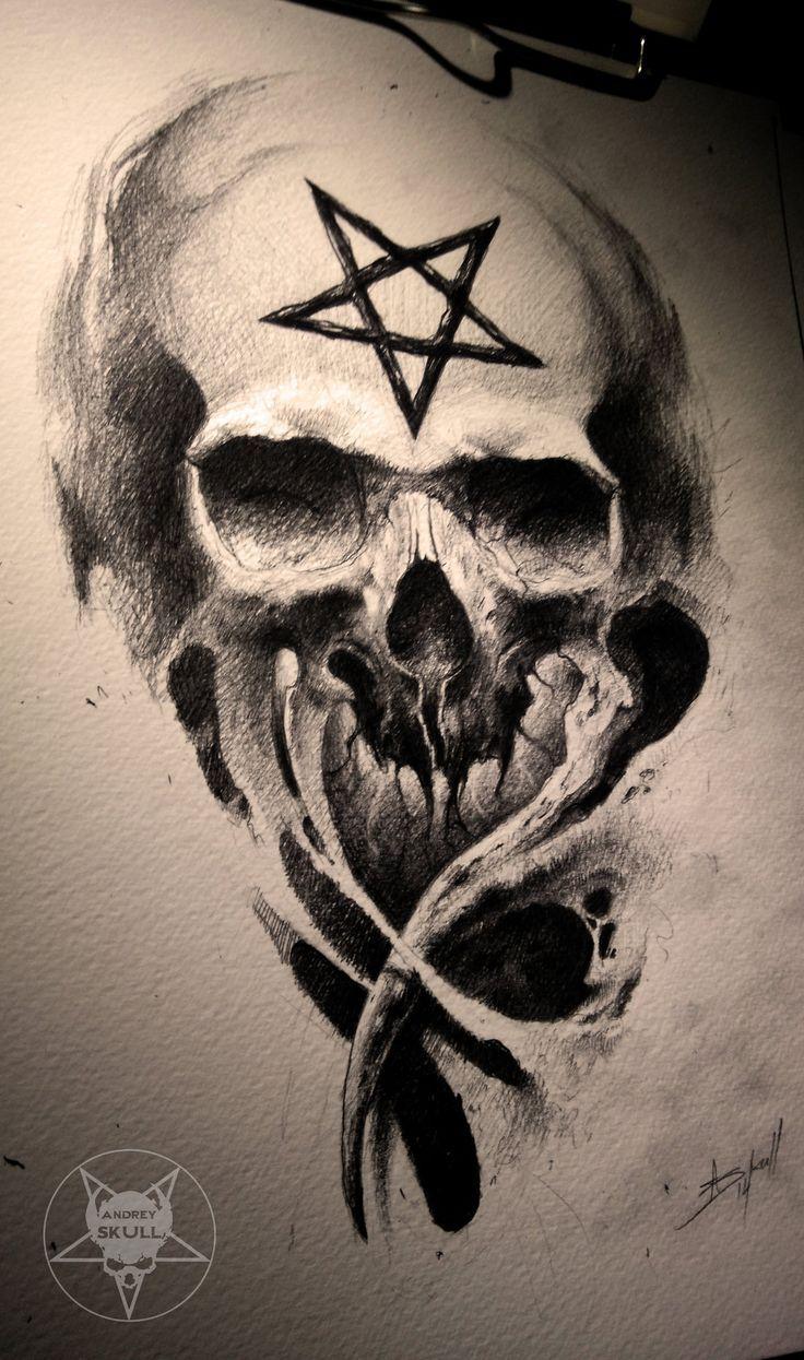 Afbeeldingsresultaat Voor Andrey Skull Tutorial Skull Art Skull Tattoo Design Skulls Drawing