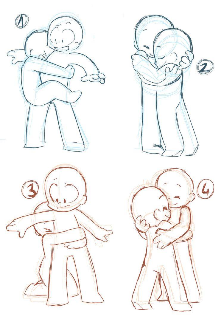 Anime Boy And Girl Hugging Base