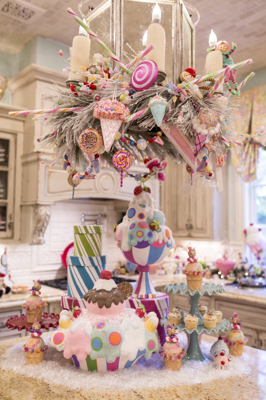 creating a christmas kitchen candy land christmas christmas chandelier pink christmas on kitchen xmas decor id=22067