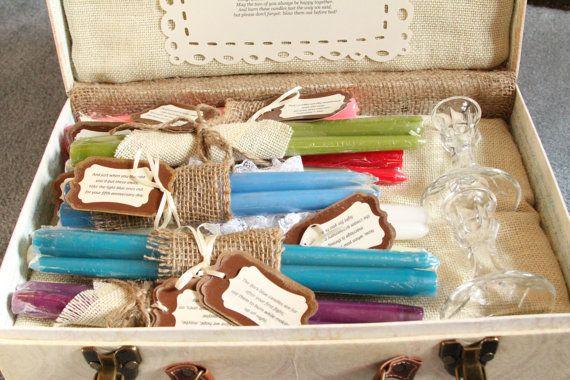 Candle Wedding Gift: Wedding Candle Poem Set / Bridal Shower Candle Poem By
