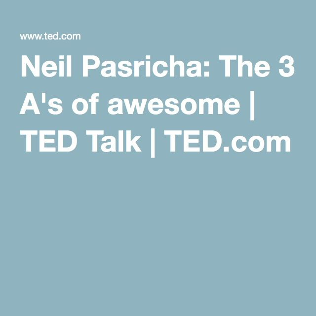 neil pasricha ted