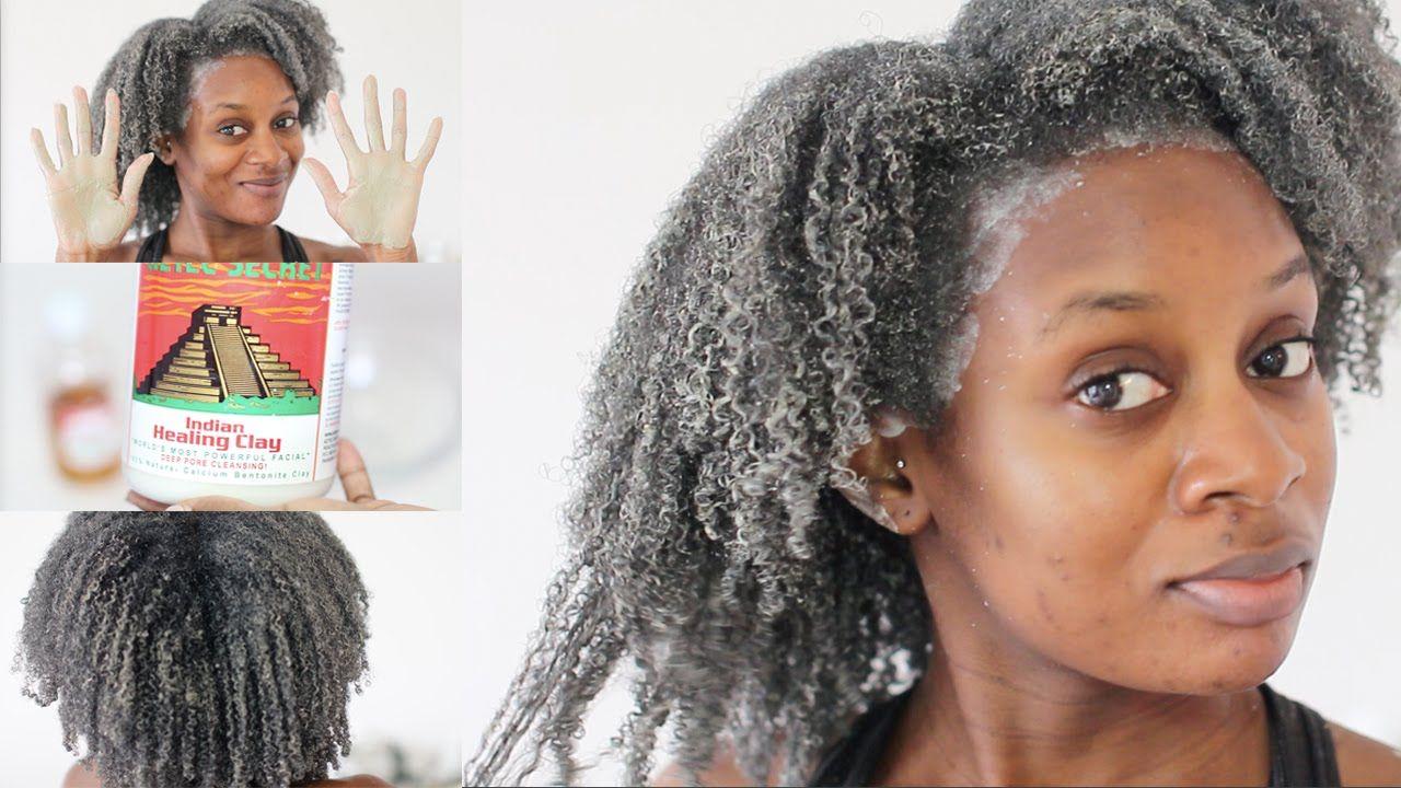 Bentonite clay mask on 4c natural hair beauty pinterest