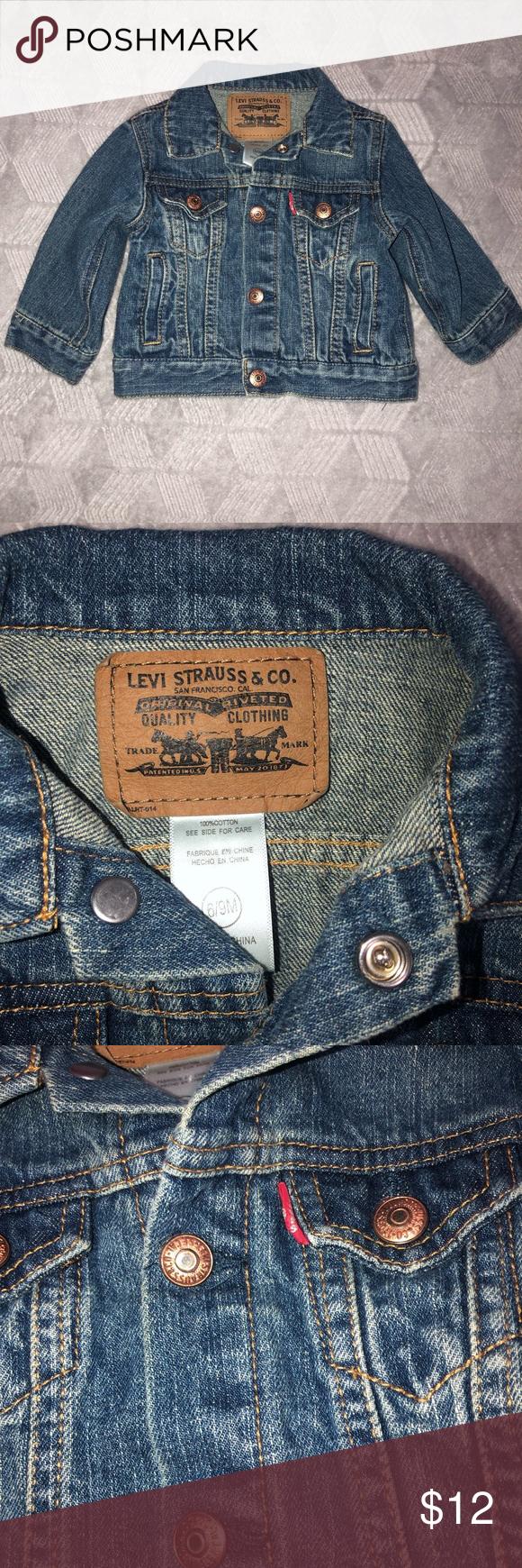 Levy S Baby Denim Jacket Baby Denim Jacket Denim Jacket Jackets [ 1740 x 580 Pixel ]