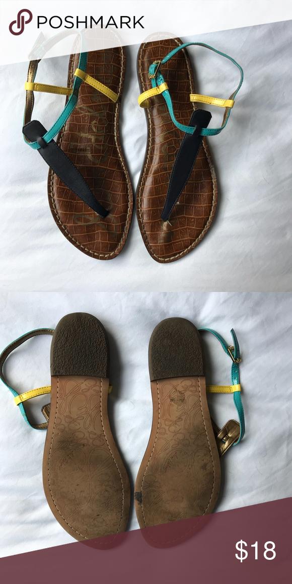 "Sam Edelman Sandals - Sam Edelman ""Gigi"" Sandals - Tricolor: Navy"