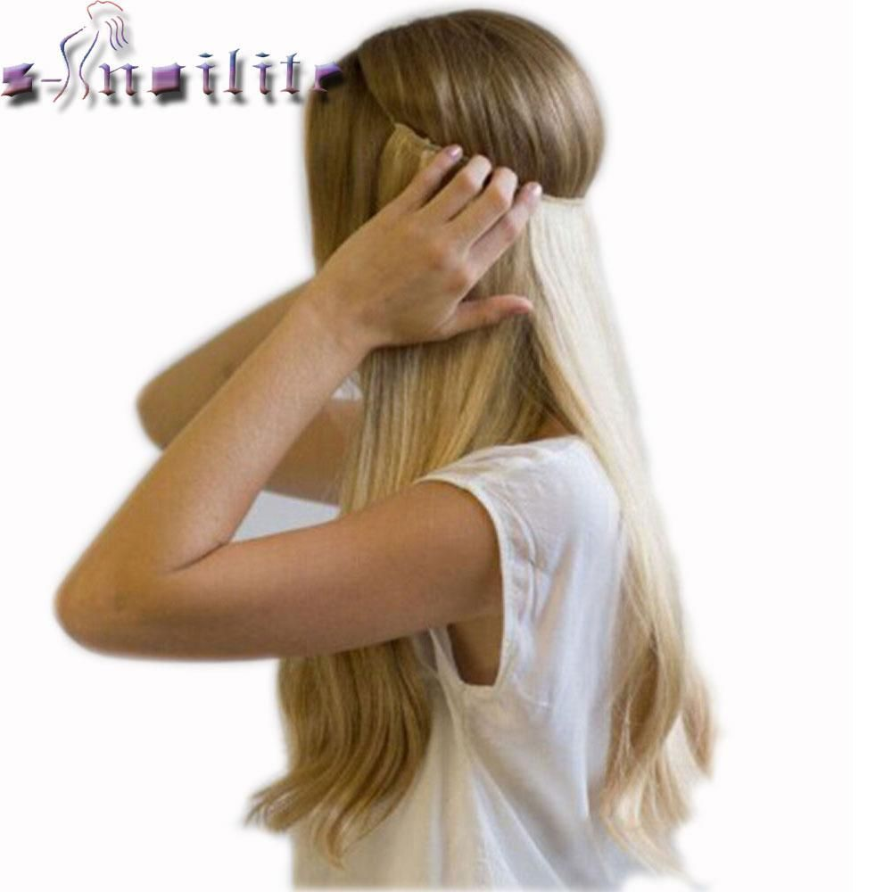 S Noilite 20 Inches Invisible Wire No Clips In Hair Extensions