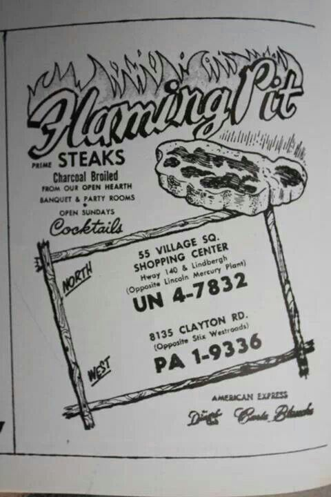 Flaming Pit, my mom had worked at the Crestwood store. Steaks, fried chicken. remember the toy chest?