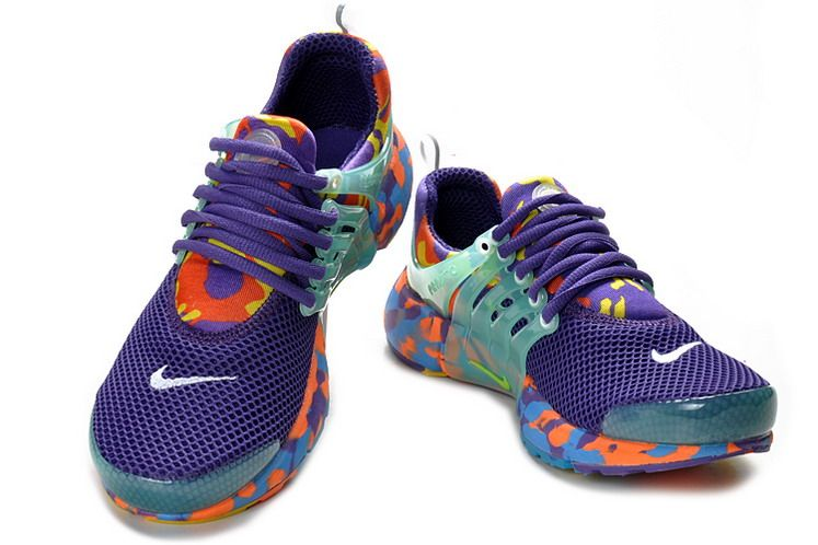 Nike Air Presto Camo Womens Sports Running Shoes Purple Orange Online  CNA106624