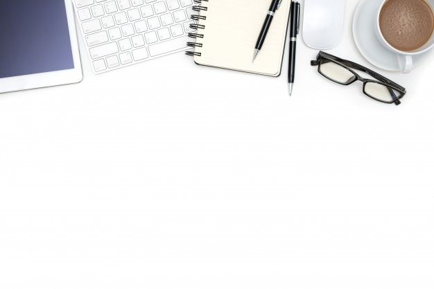 Download Office Supplies With Computer Tablet On White Desk For Free Powerpoint Background Design Free Images For Blogs Flower Background Wallpaper