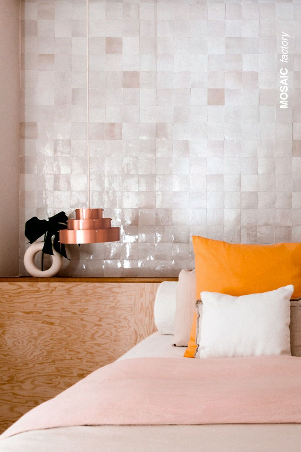 White Bedroom Feature Wall Tiles Mosaic Factory In 2020 Feature Wall Bedroom Wall Tiles Headboard Wall