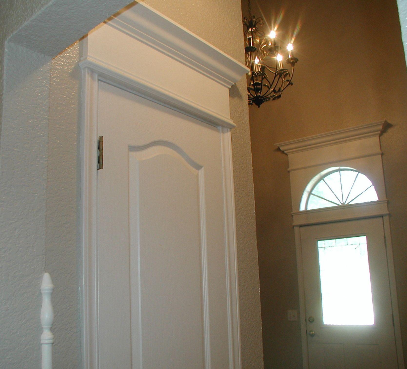 Project Cornice Of Crown Moulding Over Door Baseboard Styles Wall Molding Design Door Molding