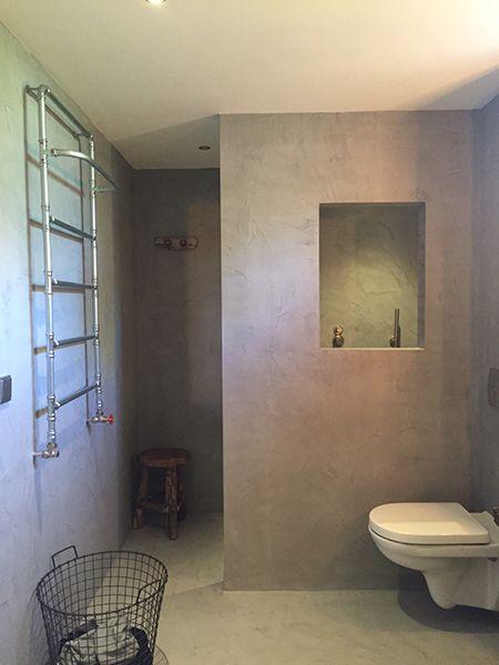 beton ciré beton ciré is een natuurlijke wand- en vloerafwerking, Badkamer