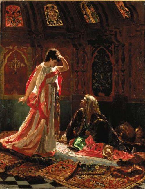 Edouard Frederic Wilhelm Richter (1844-1913) The Fortune Teller, 1875.