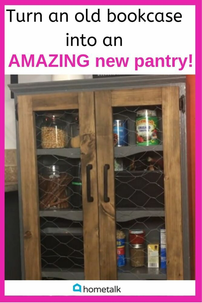 DIY Pantry: Turn an old bookcase into an AMAZING new pantry! (video tutorial) #pantryorganizationideas