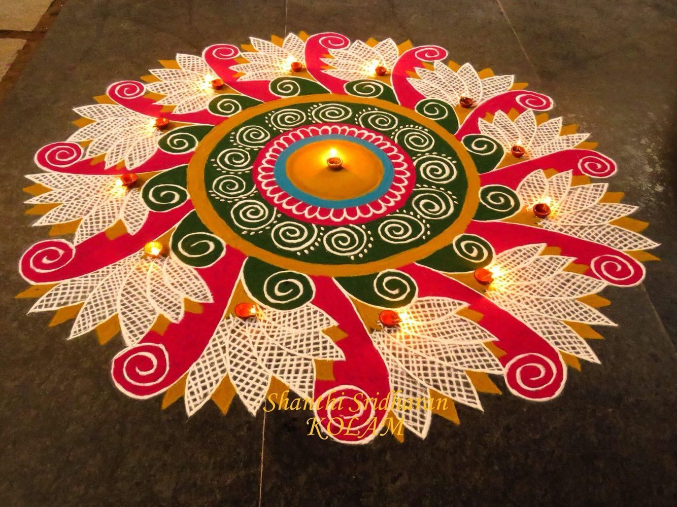 Rangoli design rangoli in 2019 Rangoli designs