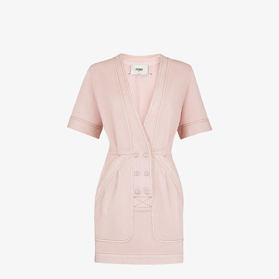 Pink Denim Dress Dress Fendi Luxury Fashion Dresses Fashion Clothes [ 900 x 900 Pixel ]