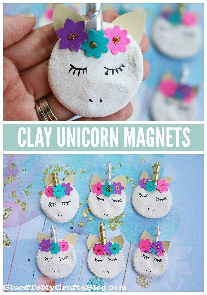 Clay Unicorn Magnets – Kid Craft