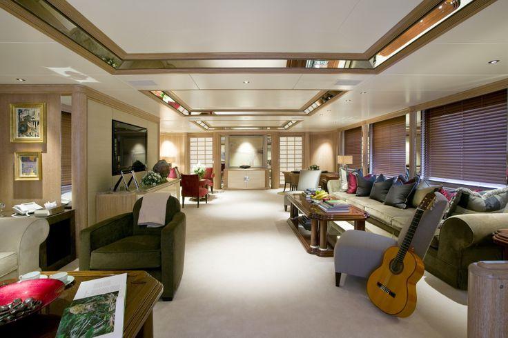 Eric Clapton's yacht Blue Guitar | Luxury yacht interior, Luxury yachts, Yacht interior
