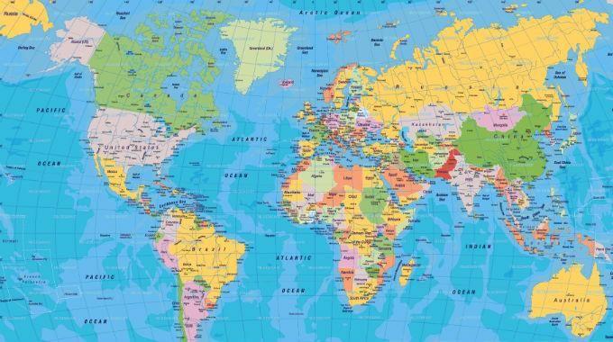Mappamondo Geografico Cartina.Pin Su Planisfero