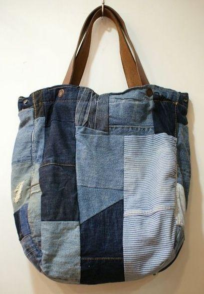 recycling old jeans sac pinterest recyclage vieux jeans et bag pinterest. Black Bedroom Furniture Sets. Home Design Ideas