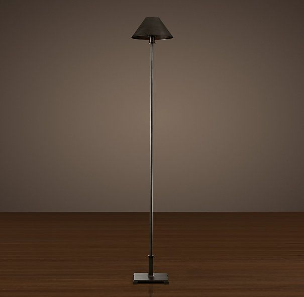 Petite candlestick floor lamp aged steel with metal shade i dont petite candlestick floor lamp aged steel with metal shade i dont love this aloadofball Image collections