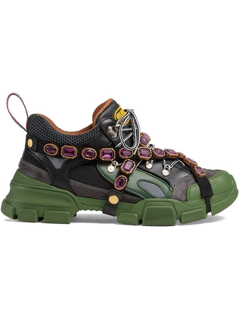 427e1c618d3 GUCCI FLASHTREK SNEAKERS WITH REMOVABLE CRYSTALS.  gucci  shoes ...