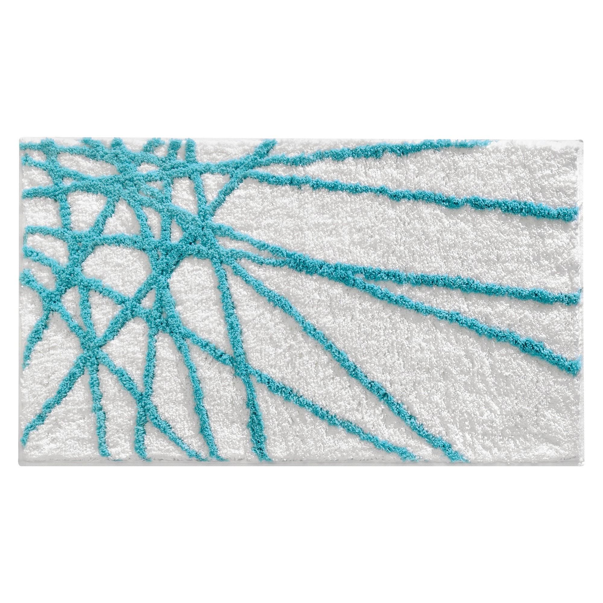 Abstract Rug Aqua White Blue White Interdesign Abstract Rug Teal Bath Rugs Bath Rug [ 2000 x 2000 Pixel ]