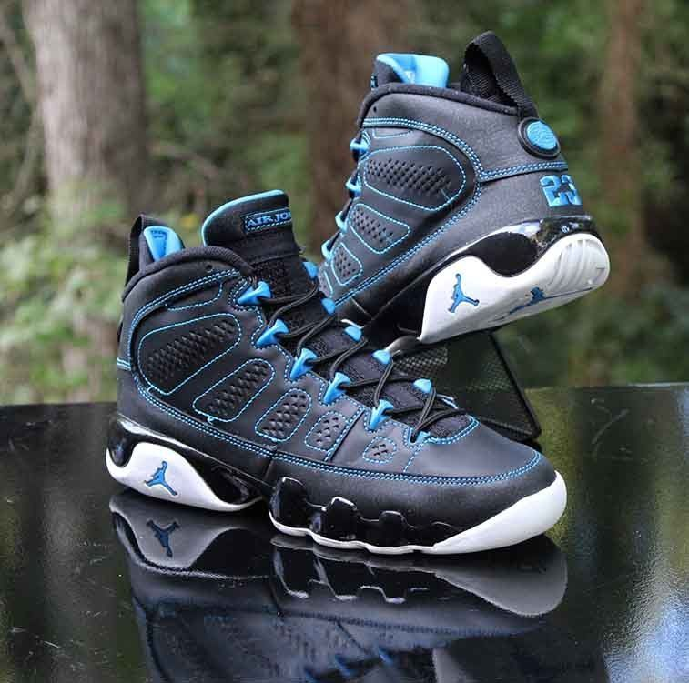 9c1daa90e9316d Nike Air Jordan 9 IX Retro GS Photo Blue Black White 302359-007 Size 5.5  WMNS 7  Nike  BasketballShoes  retroblackandwhitephotos