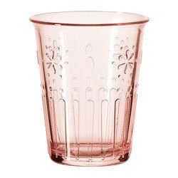 KROKETT bicchiere, rosa pallido Altezza: 9 cm Capacità: 17 cl