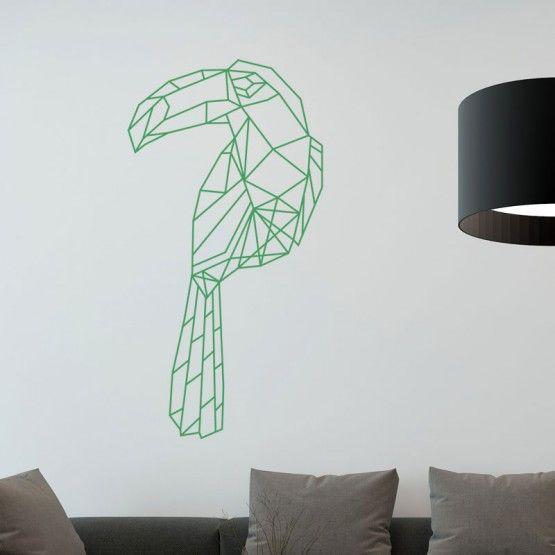 stickers toucan g om trique deco decoration murale. Black Bedroom Furniture Sets. Home Design Ideas