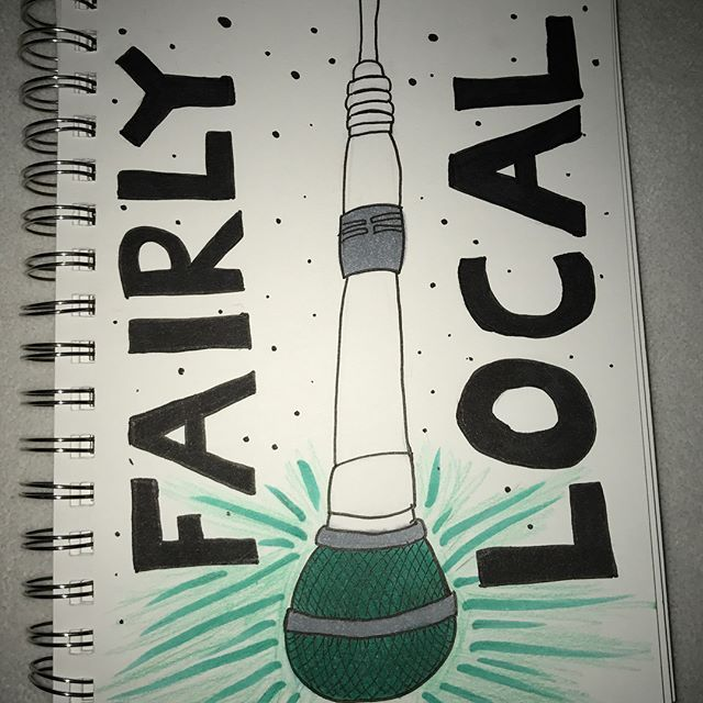 Inverted drawing of the hanging mic in the fairly local video! ( art by: @art_abigail_schirty on instagram)