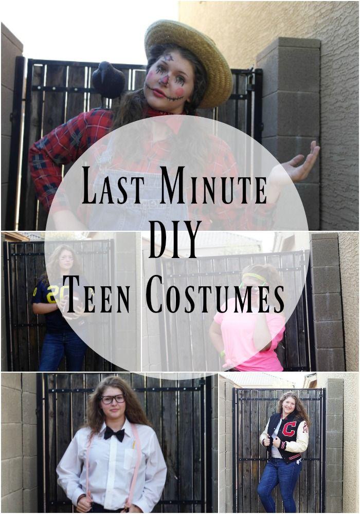 Easy Last Minute Teen DIY Halloween Costumes | Teen costumes, Teen ...