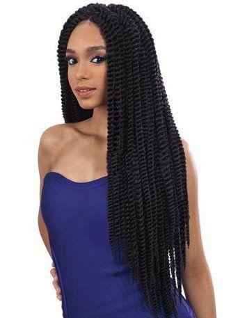 Que Jumbo Senegal Twist 2x 2 Dark Brown Crochet Bulk With