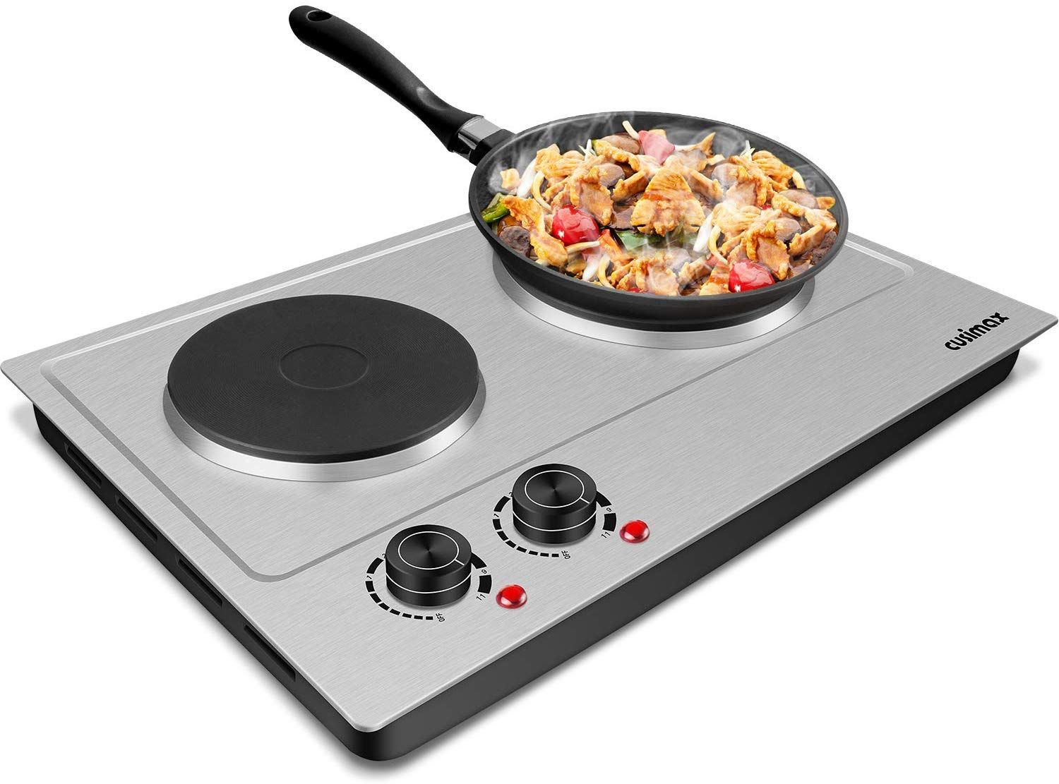 Portable Electric Double Burners Electric Cast Iron Hot Plates Cooktop Hotplate Cooking Portablestove Cooktop Double Burner Hot Plate Hot Plates