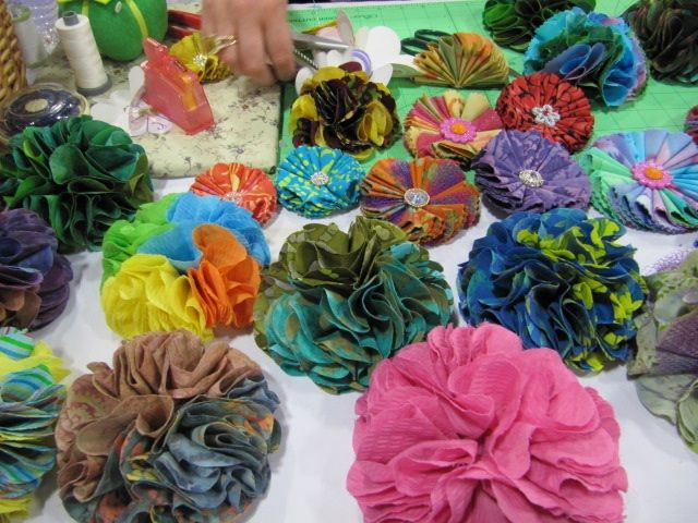 Flowers made with Clover\'s flower frill template | HairBows ...